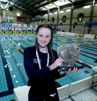©Press Eye Ltd Northern Ireland - 18th December 2011 - Mandatory Credit - Picture by Matt Mackey/Presseye.comSwim Ireland Irish Open SC National Championships, Lagan Valley Leisureplex, Lisburn.Sycerika McMahon winner of the Womens 400m SC.