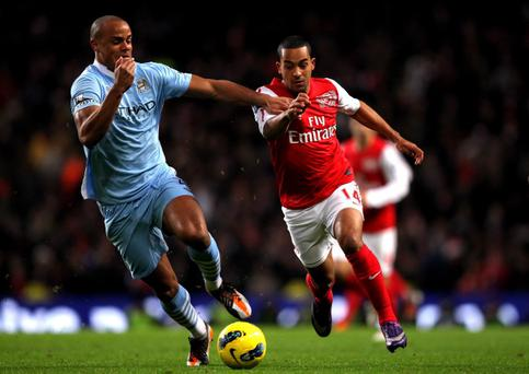 Manchester City's win over Arsenal on Sunday saw a sterling display from Vincent Kompany (left)