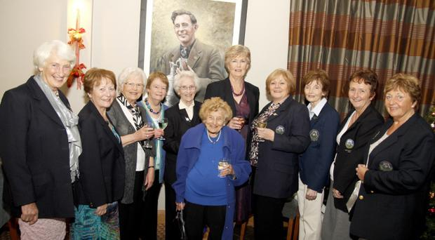Ardglass GC lady members (from left): Sylvia Lappin, Jeanette Hunter, Mary Brogan, Rosaleen Keville, Margaret Mulhall, Phil Wallace, Maeve McGinley, Noreen Savage, Mauren Rice, Catherine Kelly and Rosaleen Richmond.