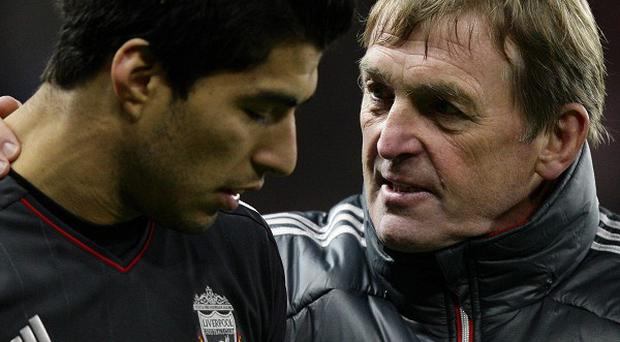 Kenny Dalglish (right) and Luis Suarez