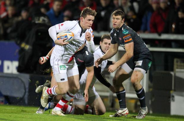 Ulster's Craig Gilroy scored the fourth try against Scarlets