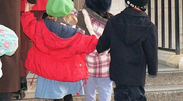 A three-year-old girl was allegedly attacked by another pupil at a pre-school nursery