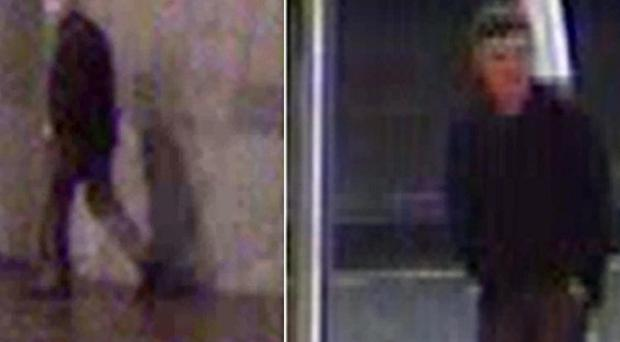 CCTV footage of a man suspected of attacking two women in separate attacks in Glasgow (PA/Strathclyde Police)
