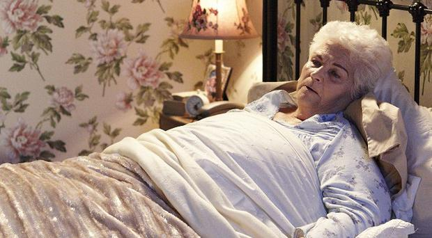 Pam St Clement has played Pat Evans for a quarter of a century