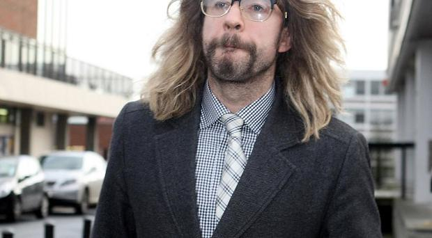 Justin Lee Collins leaves St Albans Magistrates' Court