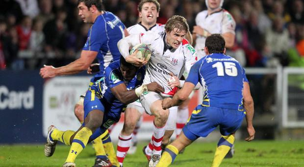 Ulster's Andrew Trimble in action against Clermont in the Heineken Cup at Ravenhill last month
