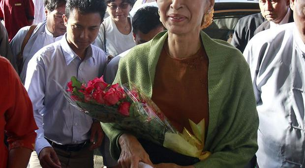 Aung San Suu Kyi has registered her National League for Democracy for any upcoming elections (AP)