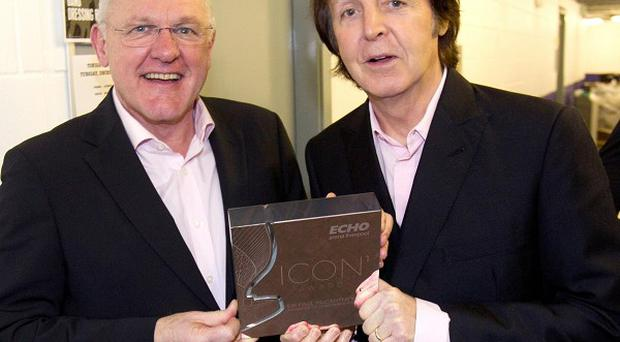 Sir Paul McCartney accepted the inaugural Icon award in Liverpool