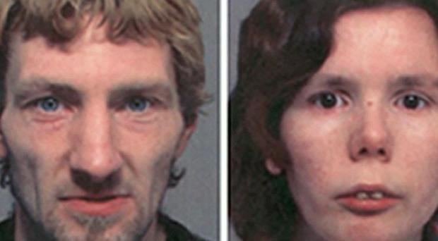 Mark Martin (left) and Amanda Ford were convicted at Northampton Crown Court in their absence after going on the run