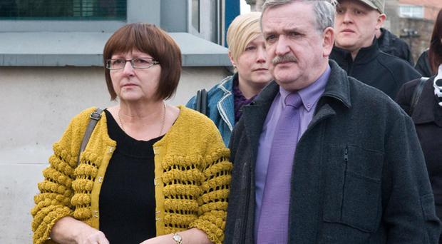 Martin's parents Elizabeth and Martin Gallagher will feature in the new television advert