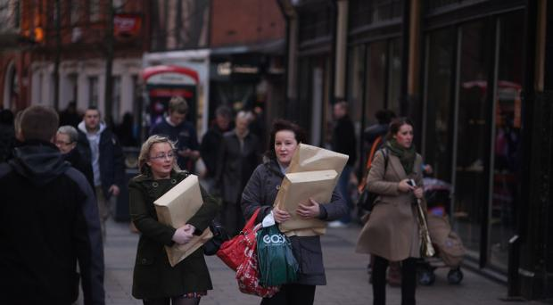 Festive shoppers on the hunt for presents in Belfast