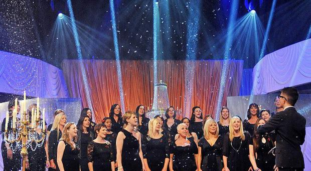 Choir master Gareth Malone conducts the Military Wives choir, who are expected to be the 2011 Christmas number one