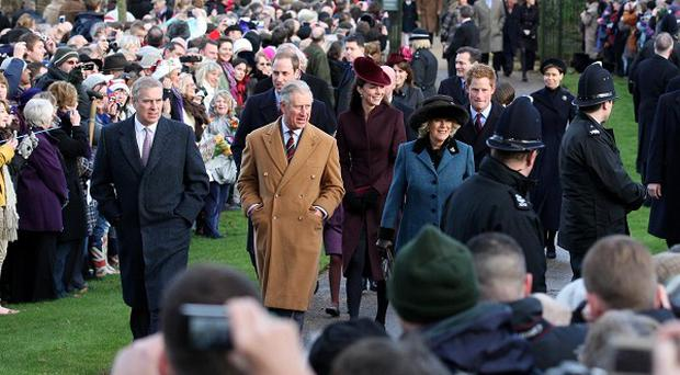 Large crowds greeted members of the Royal Family as they attended St Mary Magdalene Church on the Sandringham estate