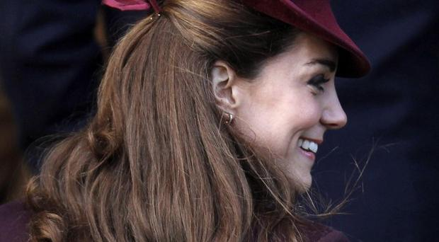The Duchess of Cambridge greeted wellwishers on the Sandringham Estate in Norfolk (AP)