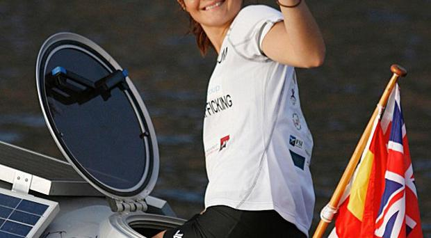 Kate Richardson is in the middle of an epic charity challenge to row across the Atlantic Ocean (Row For Freedom/PA)