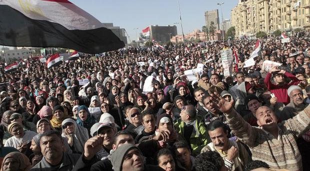 The virginity test allegations surfaced after a rally in Cairo's Tahrir Square (AP0