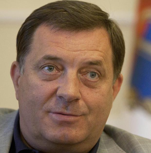 Bosnian Serb leader Milorad Dodik has said it is 'good' that politican parties in Bosnia have agreed on the formation of a government (AP)