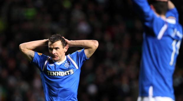 Rangers' Lee McCulloch reacts during the Clydesdale Bank Scottish Premier League match at Celtic Park, Glasgow. PRESS ASSOCIATION Photo. Picture date: Wednesday December 28, 2011. Photo credit should read: Lynne Cameron/PA Wire. EDITORIAL USE ONLY