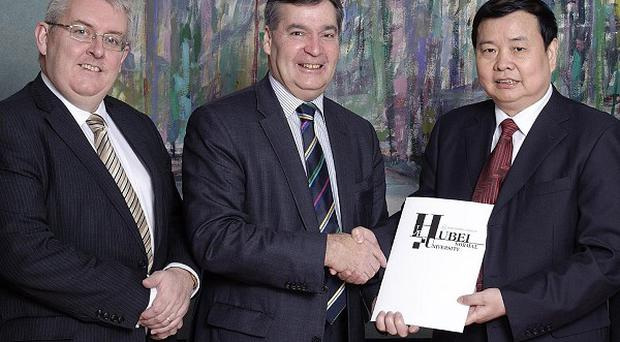 The initiative is one of three agreements the university has signed with academics in eastern China (University of Ulster/PA)