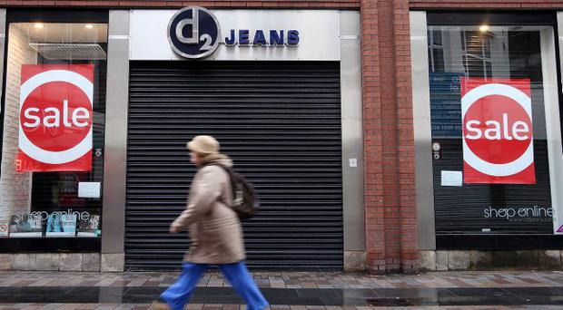 Shutters down: The collapse of D2 saw stores close in Belfast, Bangor, Omagh, Lisburn and Newry