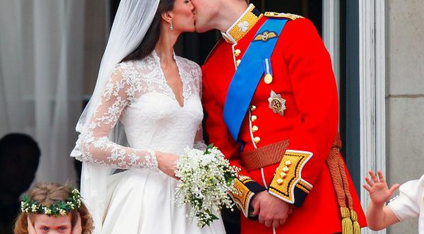 The royal kiss was voted the top TV moment of 2011