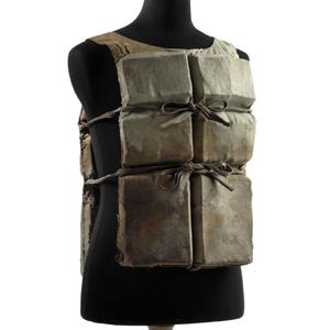 This photo provided by Christie's auction house shows a life preserver from the ill-fated R.M.S. Titanic found during the initial search for survivors and owned by the same family for 90 years. Going on the auction block in June, it is the first Titanic life jacket to be offered at auction in the United States, and is one of about six believed to have survived to this day, Christie's said Thursday, May 29, 2008.