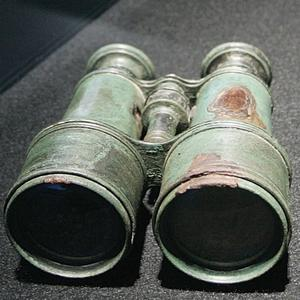 Binoculars are displayed in the Titanic: Aritifact Exhibition at the Metreon on June 6, 2006 in San Francisco, California.
