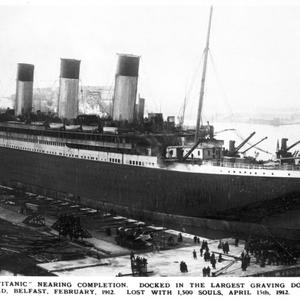 One of the images on display at the Titanic - Built in Belfast exhibition in Union Station, Washington DC.