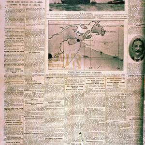 Story of the Titanic sinking on the Belfast Telegraph front page