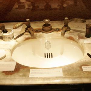 Artifacts from the Titanic are displayed in the Titanic: Artifact Exhibition at the Metreon on June 6, 2006 in San Francisco, California.