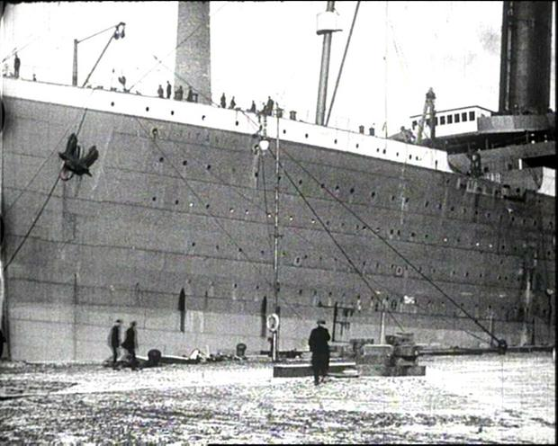 Long-lost film footage of the Titanic, showing the doomed ship moving slowly through Belfast Lough, has been discovered in the loft of a house in Glasgow. The Titanic moored in Belfast before it set sail on its fateful journey