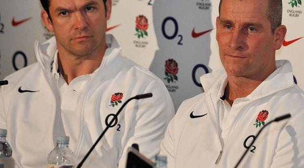 Andy Farrell (left) and Stuart Lancaster