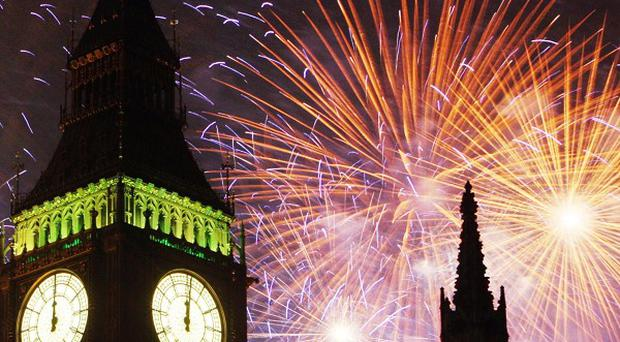 Fireworks will herald the new year in central London