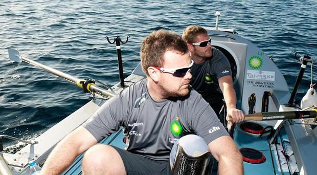 A group of injured British servicemen trying to row the Atlantic have suffered a setback after a vital piece of equipment has broken