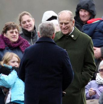 The Duke of Edinburgh joined the rest of the Royal Family for the New Year's Day church service
