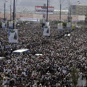 Protesters have been demanding the prosecution of Yemen president Ali Abdullah Saleh (AP)