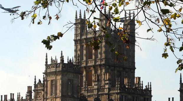 Highclere Castle near Newbury, the location of TV period drama Downton Abbey