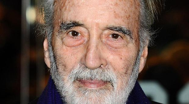 Sir Christopher Lee posted a special Christmas message online