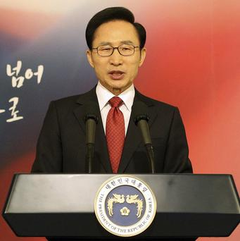 South Korean president Lee Myung-bak warned that his country would sternly respond to any North Korean attack (AP)
