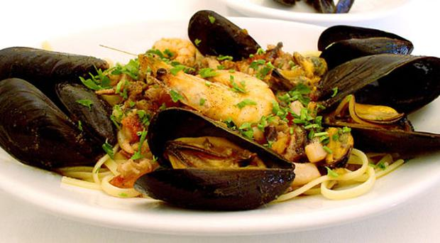 A dish of local seafood