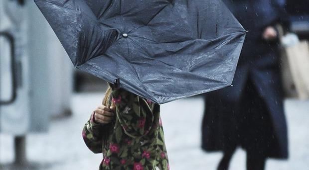 Strong winds and heavy rain are set to hit the UK