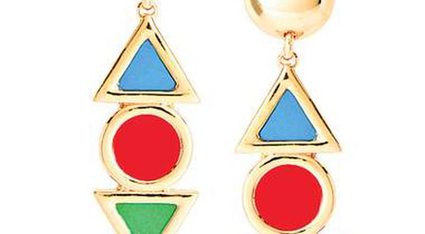 <b>1. Geometric gold</b><br/> £15, asos.com Bright and bold, these geometric shapes and poster-paint colours will stand out against either a dark or colourful outfit.