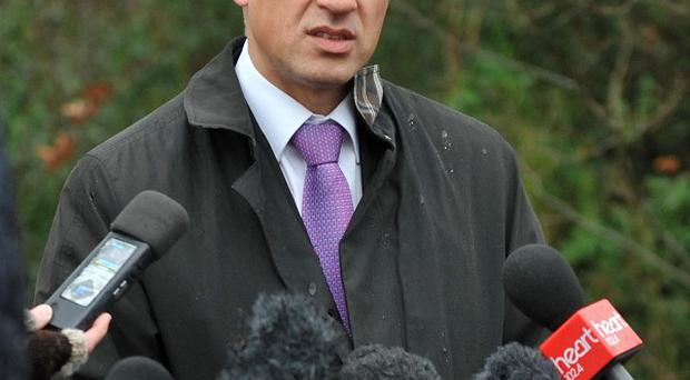 DCI Jes Fry addresses the media at the scene in Norfolk