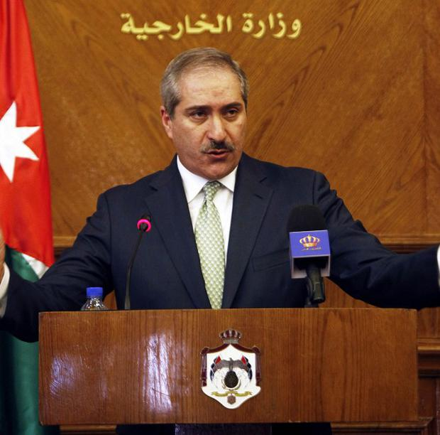 Jordan's foreign minister Nasser Judeh told a press conference in Amman the talks were held in a positive atmosphere (AP)