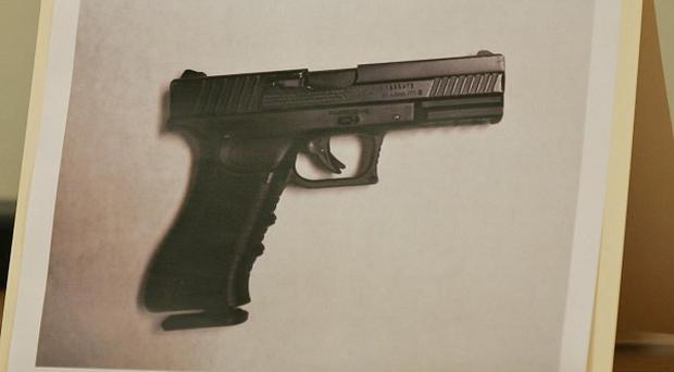 A photo of the pellet handgun 15-year-old Jaime Gonzalez was holding at the time he was shot by police at his school in Texas (AP)