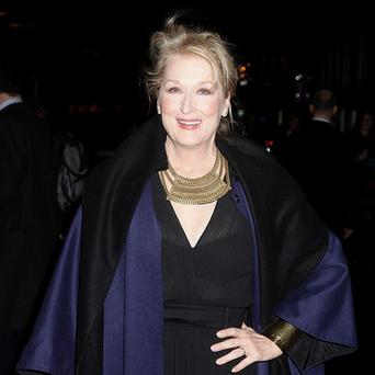 Meryl Streep arriving at the European film premiere of The Iron Lady