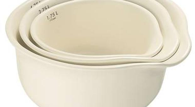 <b>1. Sebastian Conran</b> £50, johnlewis.com This trio of ceramic bowls from Sebastian Conran have easy-pour lips and are lovely for when you need to do hardcore mixing.