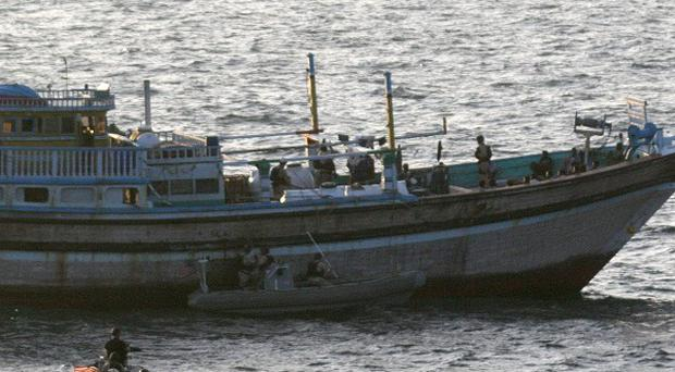 The US Navy has rescued Iranian fishermen from pirates (AP/US Navy)