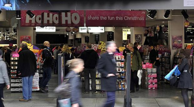 HMV posted a further drop in sales in the run-up to Christmas