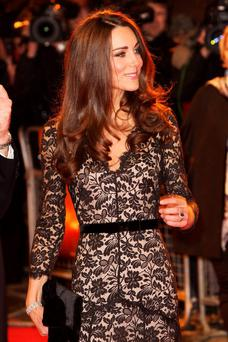 The Duchess of Cambridge attends the UK premiere of War Horse